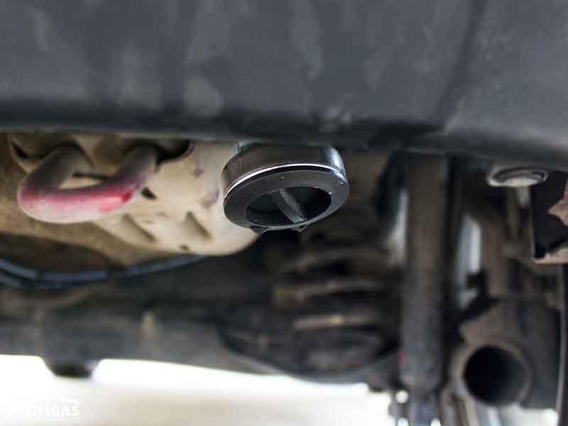 Nissan Juke: ВЗУ установили на кронштейне под задним бампером.Nissan Juke: ВЗП встановили на кронштейні під заднім бампером.