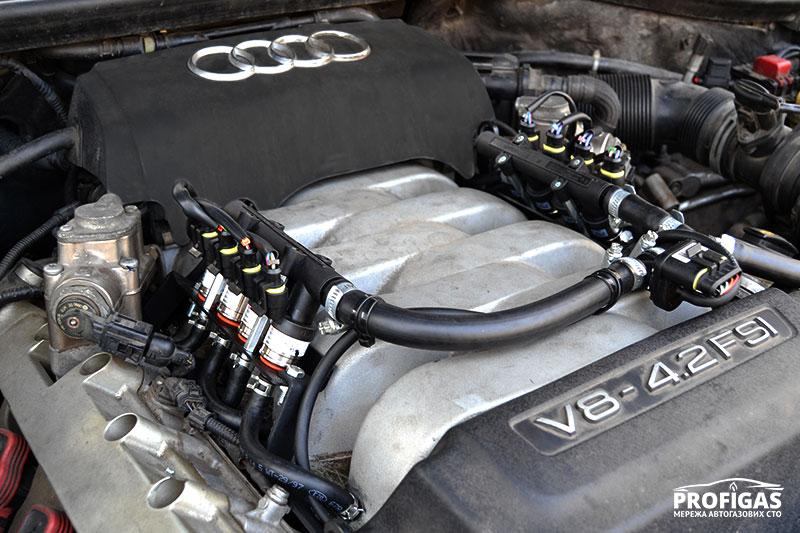 Audi AS7: 8 газовых форсунок для V8.Audi AS7: 8 газових форсунок для V8.
