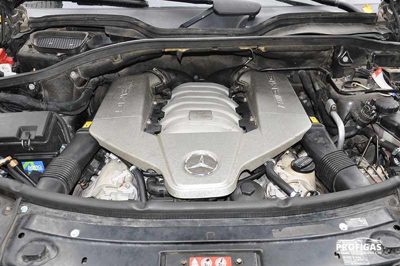 Mercedes ML63 AMG: ГБО на прокачанный 8-цилиндровый V-образный мотор.Mercedes ML63 AMG: ГБО на прокачаний 8-циліндровий V-подібний двигун.
