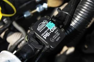 Датчик тиску STAG PS-02 надає дані про рівень тиску на форсуночній планці.